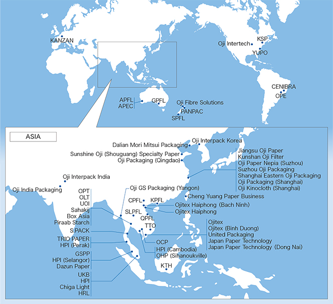 Overseas Activities Map